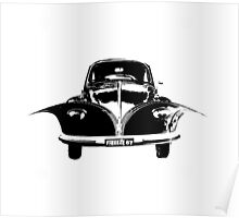VW unzipped volkswagen beetle and camper Poster
