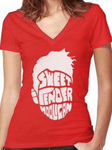 Sweet and Tender Hooligan (White Only) Women's Fitted V-Neck T-Shirt