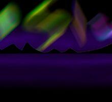 Aurora Borealis Landscape by Nathan Walker