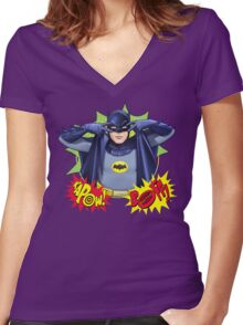 KAPOW! BOFF! Women's Fitted V-Neck T-Shirt