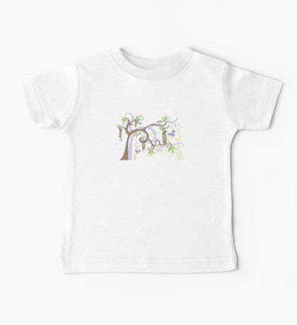Magic Trees and Baby Boy Girl Twins Peas in a Pod Baby Tee