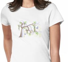 Magic Trees and Baby Boy Girl Twins Peas in a Pod Womens Fitted T-Shirt