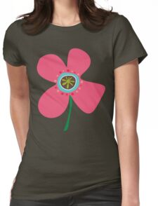 Pink Daisy Pop Womens Fitted T-Shirt