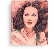 PORTRAIT OF HEDY LAMARR Canvas Print