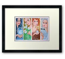 The Four Elements Framed Print