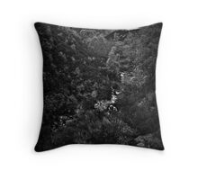 middle black clough, pennines, yorkshire Throw Pillow