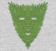 Green Man Mask Kids Clothes