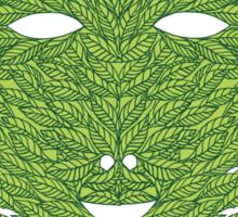 Green Man Mask Sticker