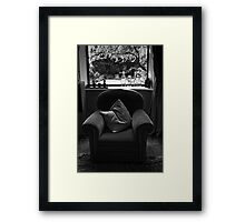 chair window Framed Print