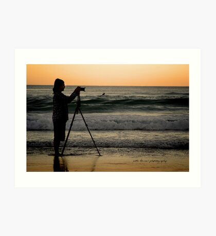 SurfersCameraMan © Vicki Ferrari Photography Art Print