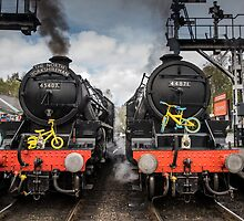 Black 5's 45407 and 44871 by Dave Hudspeth