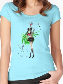 Pluto Watercolor Women's Fitted Scoop T-Shirt