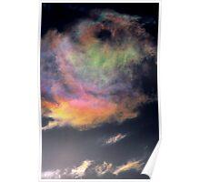 Iridescent Cumulus cloud near Melbourne, Victoria. Poster