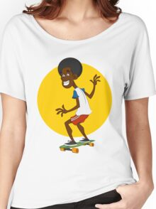 dude on long board. Women's Relaxed Fit T-Shirt