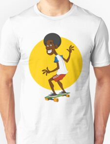 dude on long board. Unisex T-Shirt