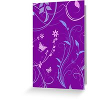 Floral Swirls and Butterflies Greeting Card