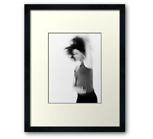 Blurry hyper active young woman  Framed Print