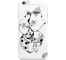 Faces In Your Notebook Original Pencil Art iPhone Case/Skin