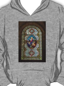 Stain glass window in a Church in Autoire T-Shirt