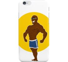 muscular man posing. iPhone Case/Skin