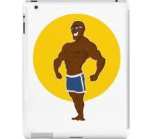 muscular man posing. iPad Case/Skin