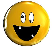 Funny smiley face crazy smile by dopebubble