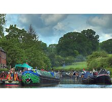 A Busy Stoke Bruerne Photographic Print