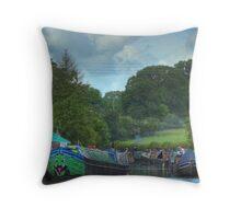 A Busy Stoke Bruerne Throw Pillow