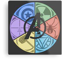Team Avengers Assemble - Circular Metal Print