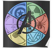 Team Avengers Assemble - Circular Poster