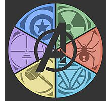 Team Avengers Assemble - Circular Photographic Print