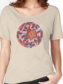 Coral Summer - a hand drawn floral pattern Women's Relaxed Fit T-Shirt