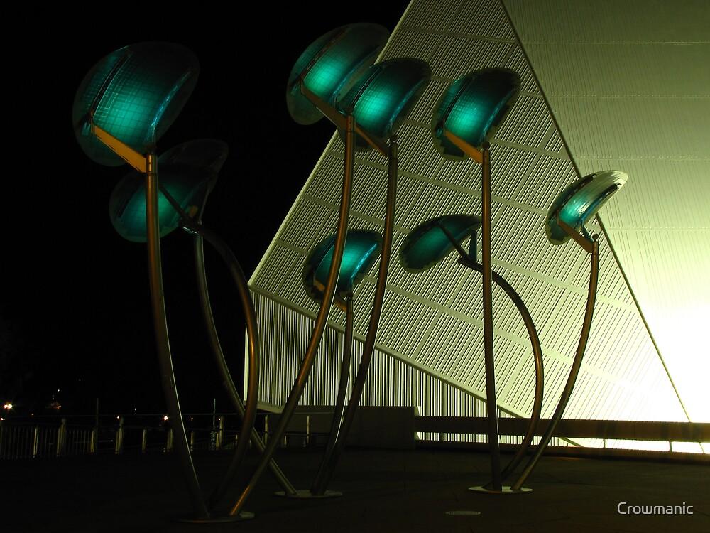 Lunar Trees Solar Powered by Crowmanic
