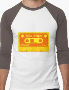 Psychedelic Mix Tape - Orange and Yellow Men's Baseball ¾ T-Shirt