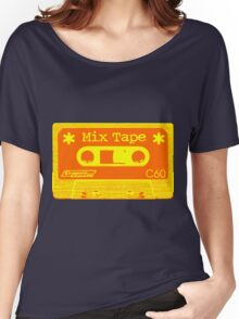 Psychedelic Mix Tape - Orange and Yellow Women's Relaxed Fit T-Shirt