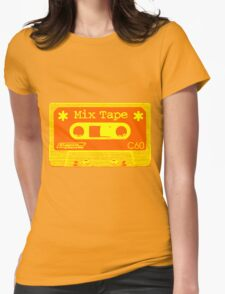 Psychedelic Mix Tape - Orange and Yellow Womens T-Shirt