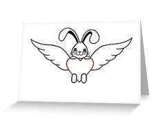 Angel Wings Rabbit Sanctuary Logo Greeting Card