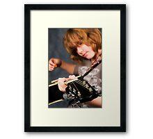 The Guitar N' Friend Framed Print