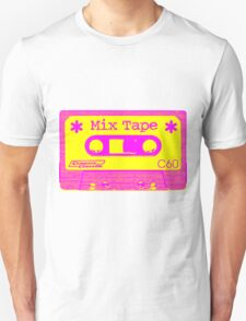 Psychedelic Mix Tape - Magenta and Yellow T-Shirt