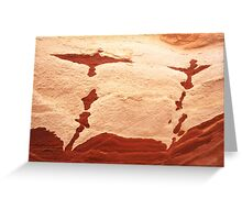 rock birds taking off Greeting Card
