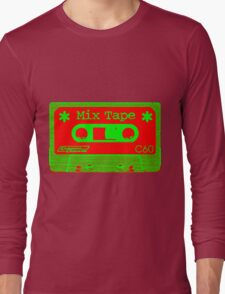 Psychedelic Mix Tape - Red and Green Long Sleeve T-Shirt