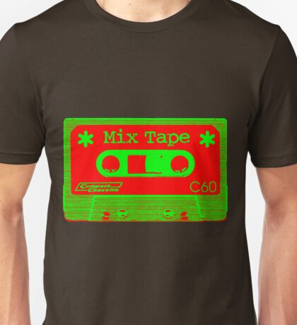Psychedelic Mix Tape - Red and Green Unisex T-Shirt