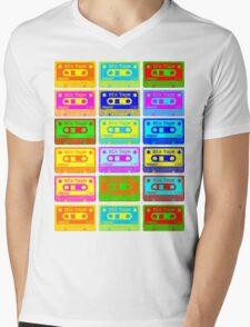 Psychedelic Mix Tapes Mens V-Neck T-Shirt