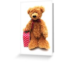 Bear going on holiday Greeting Card