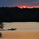 Speedboating on Prairie Creek Lake by mltrue