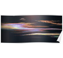 Iridescent Altostratus Cloud near Melbourne, Victoria. Poster