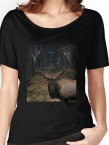 Portrait of an American Elk Women's Relaxed Fit T-Shirt