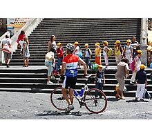 Racer and Kids Photographic Print