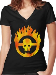 Road of Fury Women's Fitted V-Neck T-Shirt