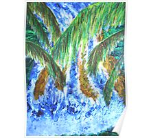 Jungle Waterall Poster